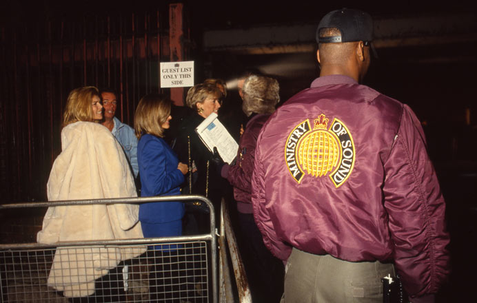 Guestlist queue outside of Ministry of Sound in 1991, its opening year. Image credit: Ministry of Sound.