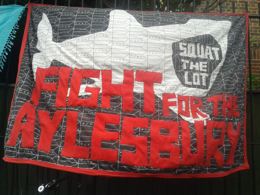Campaign Quilt, Fight For The Aylesbury, 2015.