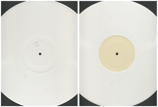 Heygate, white-vinyl 12″ A and B sides. Image: Will Montgomery.