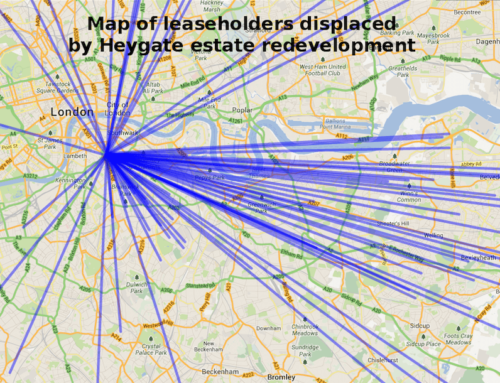 Heygate Estate Resident Displacement Maps
