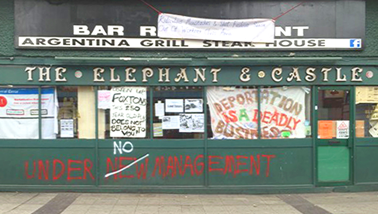 Elephant and Castle Social Centre. Image rights: Squat Net.