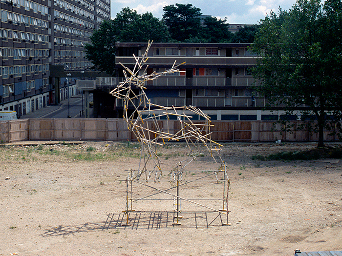 Stage Scaffolding Sculpture, 2008. Ben Long.