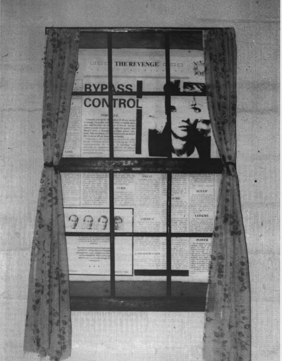 Bypass Control at DIY Gallery, an installation and 'newspaper' with Ed Baxter (April, 1986)